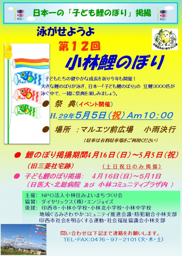 2017年第12回鯉のぼり大会ポスター(2月20日版)