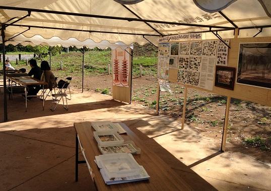 小林近辺の歴史と自然のパネル、写真の展示